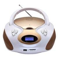 Портативный cd плеер фетальная обучающая игрушка USB. SD/MMC/ms карта U воспроизведение диска портативный fm радио 3,5 аудио входной динамик