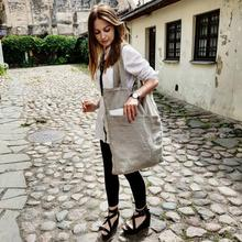 Large ECO Fashion Durable Women Student Cotton Linen Single Shoulder Bag Shopping Tote Flax Canvas Bags