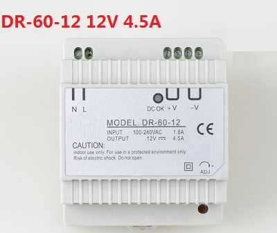 60W 12V 5A single output din rail type power supply 12 volt ac dc transformer