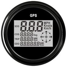 85mm Digitale Auto Boot Tachometer GPS Kilometerzähler Speed Gauge 0 999 knoten kmh mph für Auto Lkw Boot motorrad Mit Hintergrundbeleuchtung