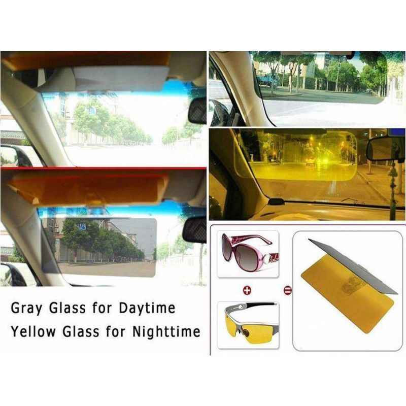 День/Ночь анти-Солнечный козырек клип на HD видения автомобиля очки для водителей тени
