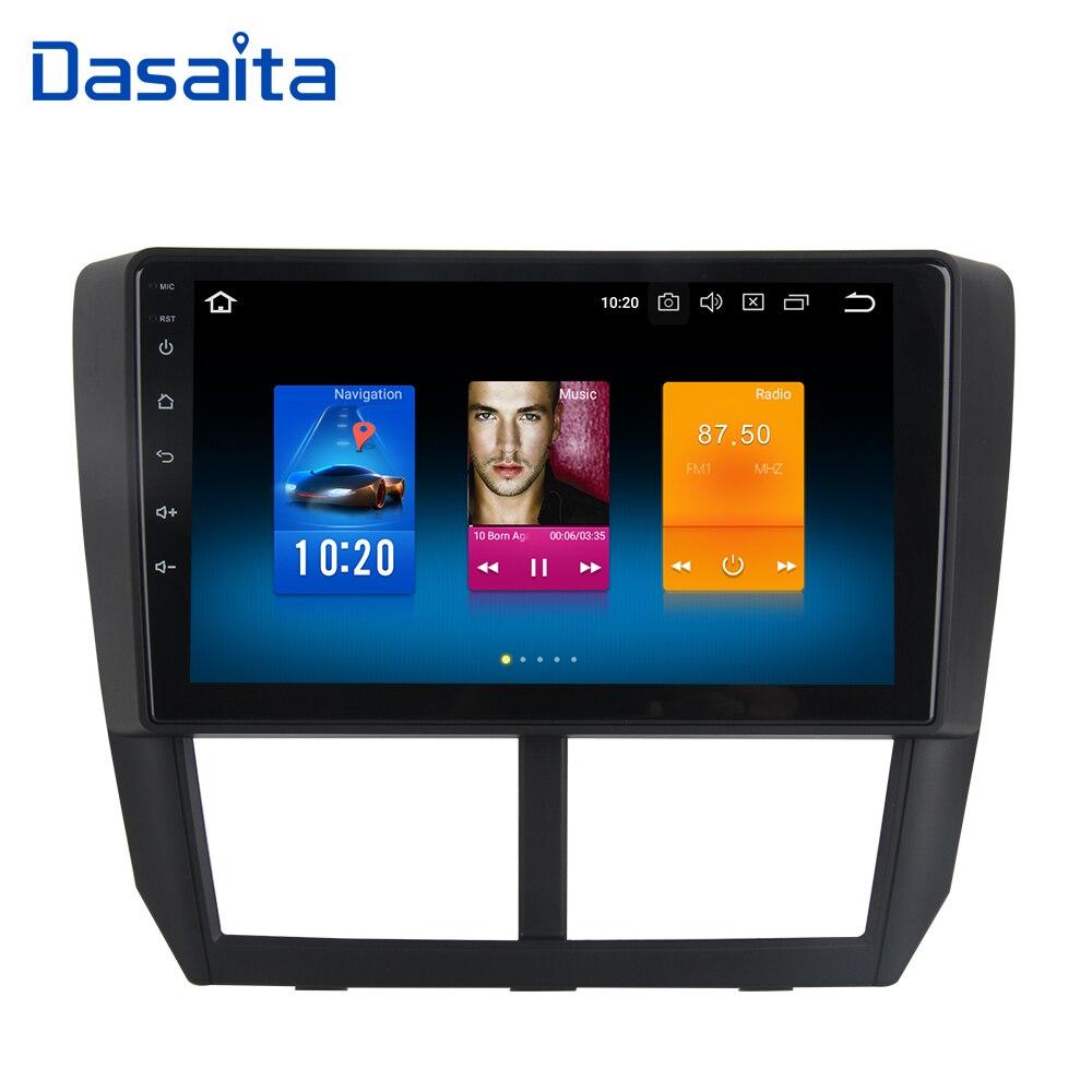 9 Android 8.0 Autoradio GPS pour Subaru Forester Navigation 2008 2009 2010 2011 2012 Tête Unité 4g 32g Octa Core