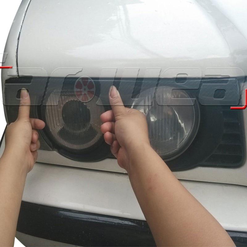 1992-1996 For BMW E34 5 Series Carbon Fiber Headlight Eyebrows Eyelid headlight eyebrow eyelid for nissan skyline r33 gtr gtst carbon fiber eyebrow eyebrows eyelids car accessories