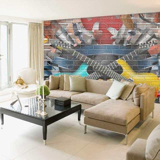 Online-Shop Kreuz gitarre wohnzimmer hintergrund 3D Wallpaper ...