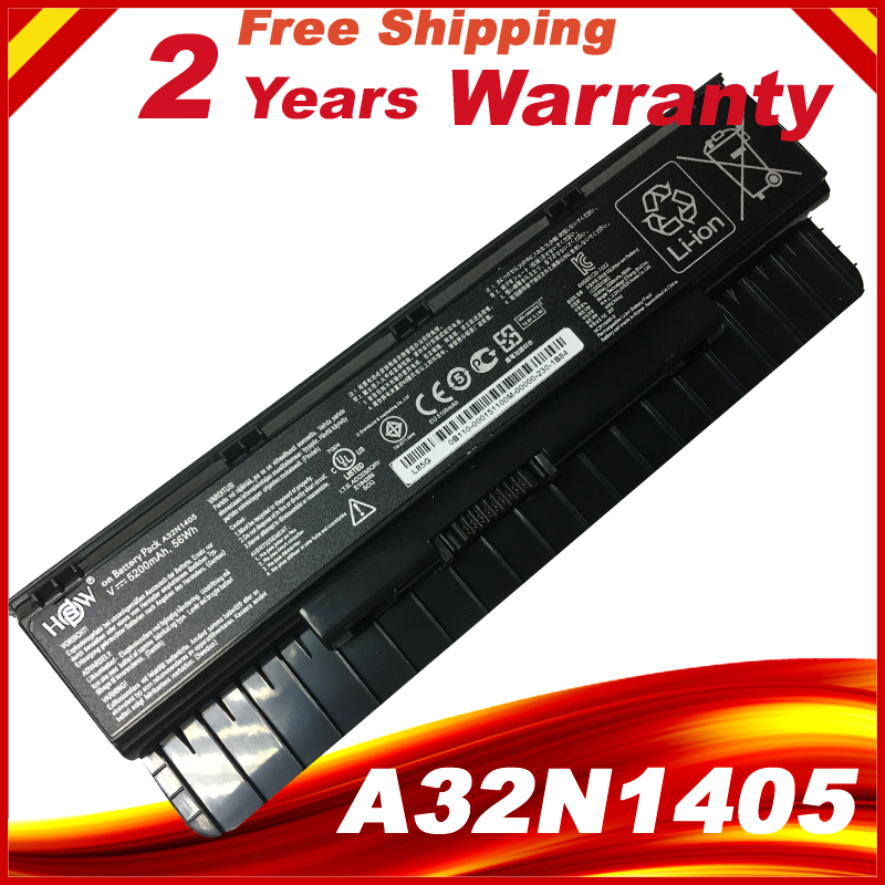 HSW laptop battery A32N1405 56WH For Asus G551 G551J G551JK G551JM G771 G771J G771JK N551J N551JW N551JM N551Z 10 8v 56wh original new laptop battery for asus g551 g58jk g771 g771jk a32n1405 n551
