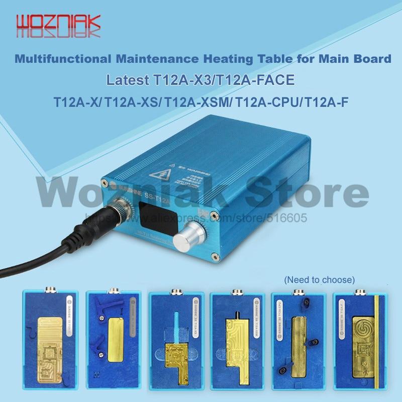 Nieuwste SS-T12A X3 voor iPhone X XS XSMAX Moederbord Gelaagde Gezicht ID Verwarming Demontage Platform CPU Middelste niveau Main board