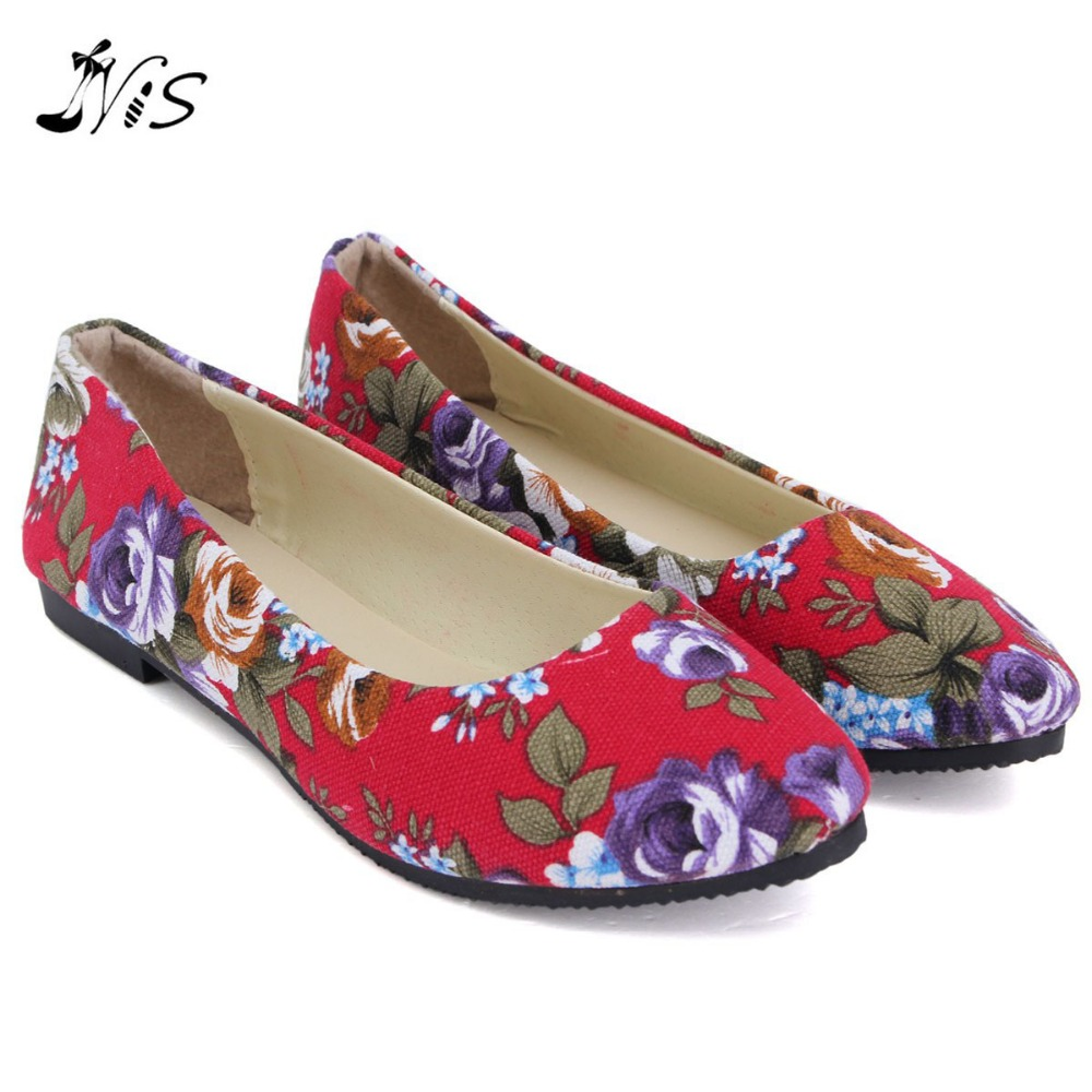 Women Loafers Fashion Spring Autumn Print Flower Flat Shoe Woman Ladies Slip-On Antiskid Flats Boats Canvas Pointed Toe Shoes beyarne hot sale new fashion spring women flats shoes ladies bow pointed toe slip on flat women s shoes free shipping size34 40