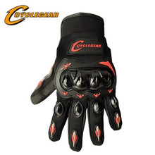 CYCLEGEAR 666 Motorcycle Full Finger Protection Glove Screen-Touch Motocross Off Road Gloves ATV Racing Guante motorcycle off road racing rider anti touch screen leather gloves