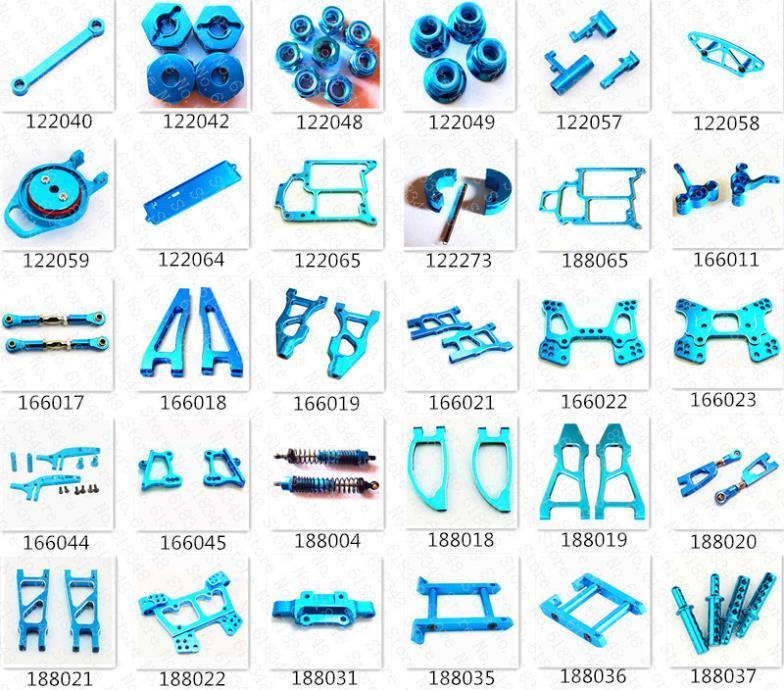 HSP Racing Aluminum Alloy Upgrade Parts Upgrades Spare Parts Accessories For 1/10 4WD RC Model Car RC On/Off /Road Buggy Truck