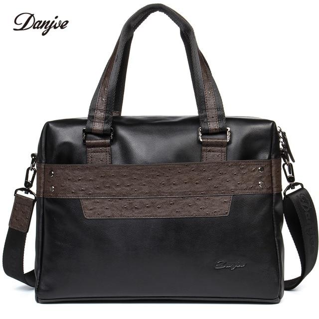 DANJUE New Business Bag Travel Laptop Bag Packs Men Genuine Leather Handbag Brand Cow Skin Shoulder Bag Man Big Capacity