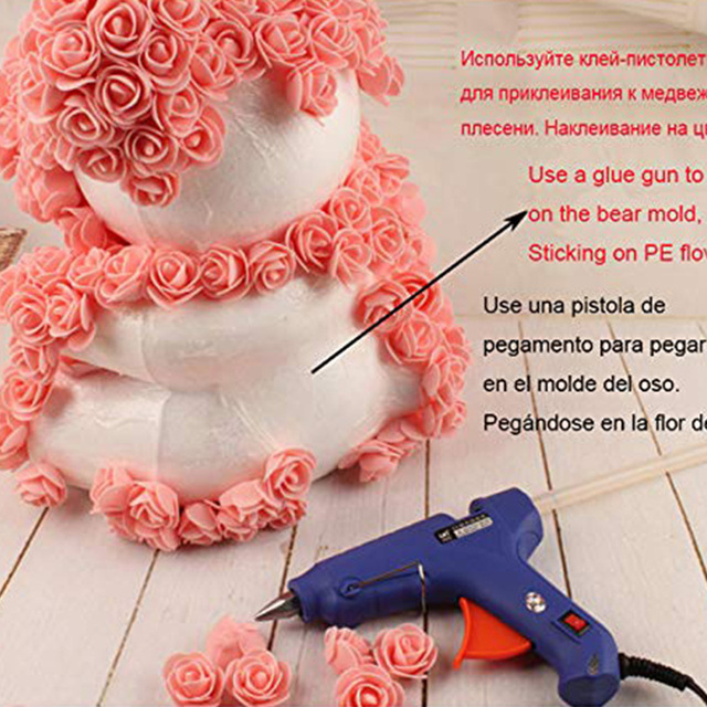 1pcs Rose Bear Foam Teddy Bear Mold DIY Valentines Day Gift Wedding Decoration Artificial Flowers Rose Bear Kids Birthday Decor 2