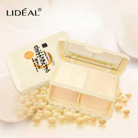 LIDEAL Brand Soybean milk essence Pressed Powder Double layer of powder Whitening control of oil and brightening the complexion