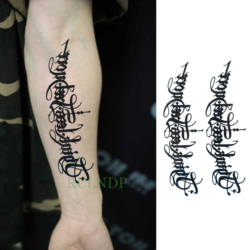 Waterproof Temporary Tattoo Tribal Totem tatto flash tatoo fake large size body art arm chest English for girl women man