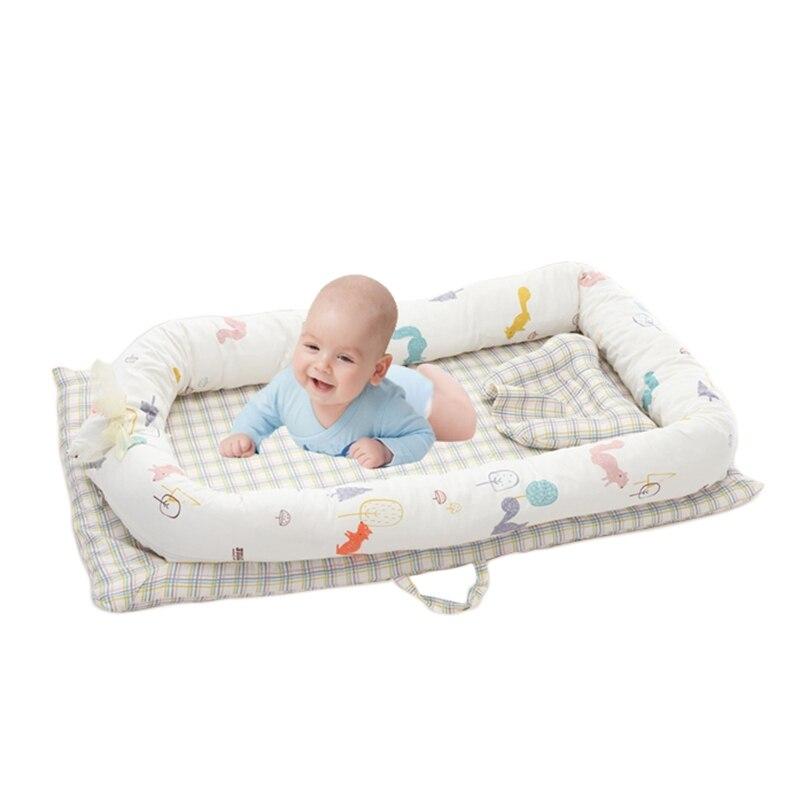 Новорожденных детские кроватки бамперы хлопок детские кровати матрас бампер Портативный детская кровать Постельное белье Съемный младенч... ...