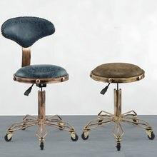 f8106659d Belleza taburete peluquería Silla de salón de pelo silla giratoria levantar  maquillaje sofá silla de ruedas