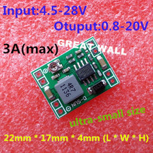 5PCS Ultra-small size DC-DC step-down power supply module 3A adjustable step-down module super LM2596(China)