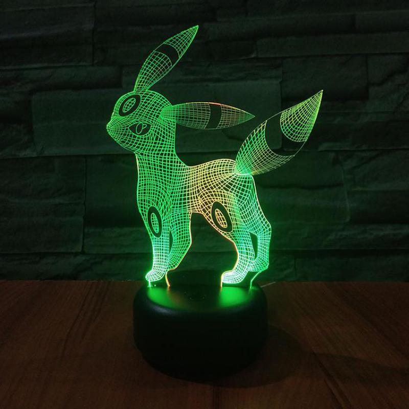 Long Ear Deer Led 3d Colorful Nightlight Creative Visual Touch Charging Lamps Touch Switch Factory Wholesale Novelty Lights