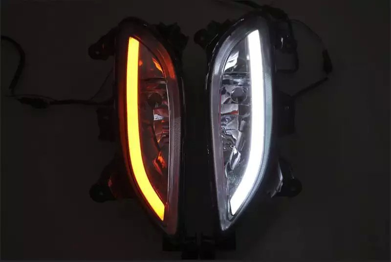 Osmrk led drl daytime running light for Hyundai Sonata 8G 2011~12 with yellow turn light function top quality