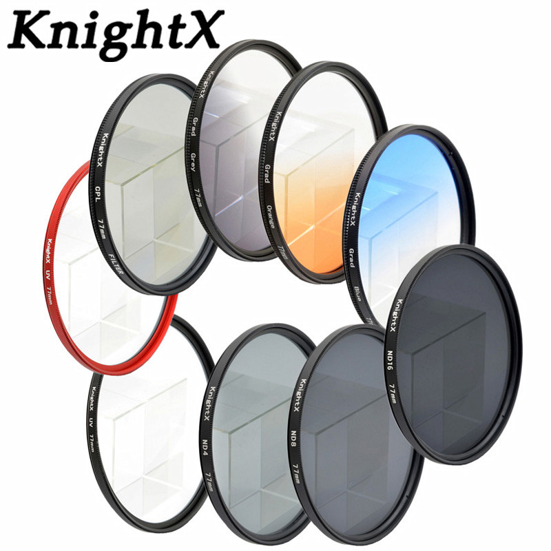 KnightX Star ND4 ND8 FLD FLD MC УФ-фильтр для объективов для Sony Canon Nikon D3000 D3100 D3200 D5000 D5100 D5300 D3300 D7000 D7100