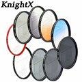 KnightX Yıldız ND4 ND8 FLD FLD MC UV lens renk filtresi için Sony Canon Nikon D3000 D3100 D3200 D5000 D5100 D5300 D3300 D7000 D7100