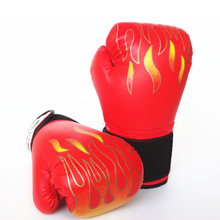 Flame Pattern Sport Boxing Gloves