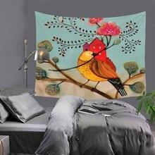 Арт цветок птицы гобелен хиппи мандала на стене богемный покрывало общежитие декор скатерть коврик