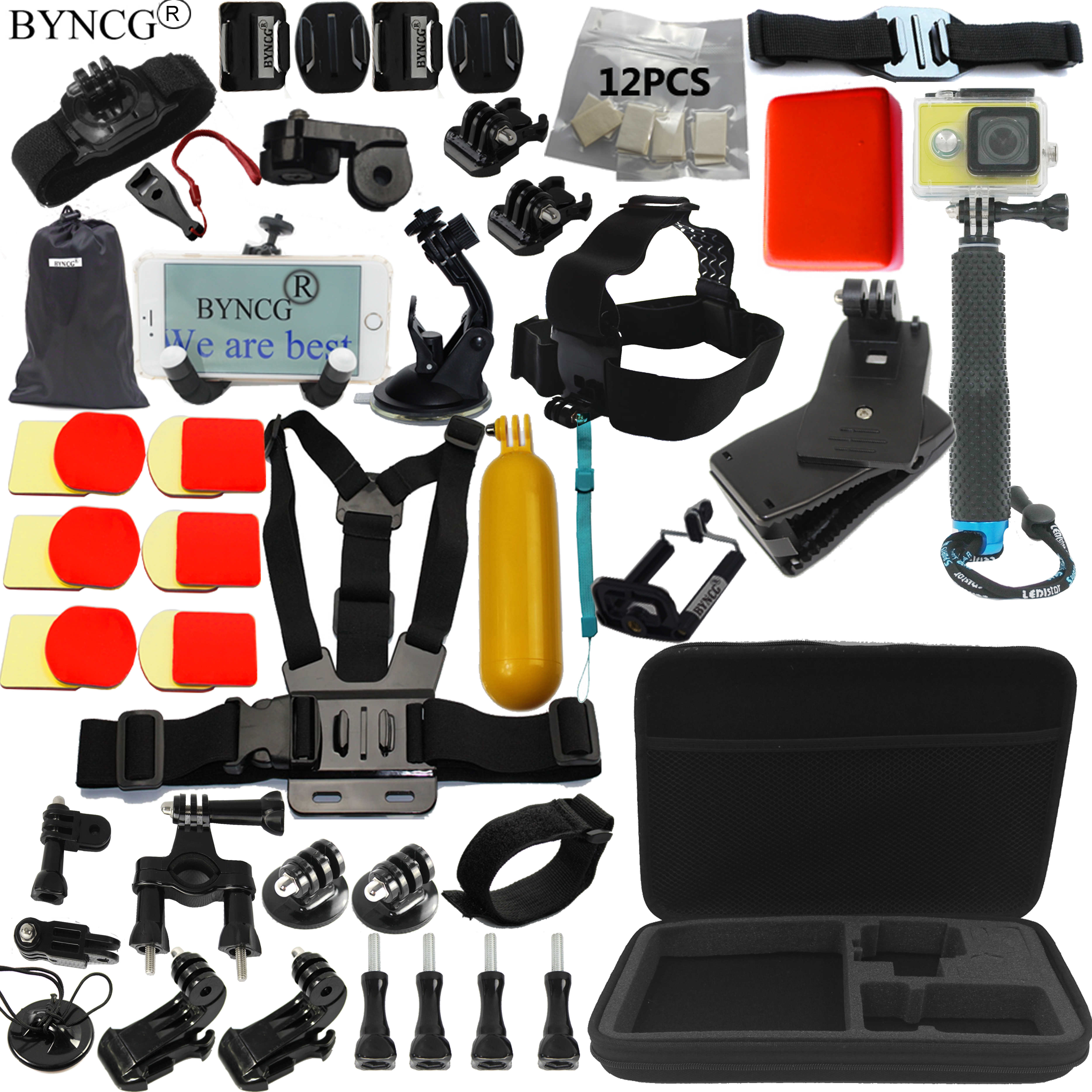 BYNCG GoPro Hero Accessories Set for Go Pro Hero  Kit GoPro