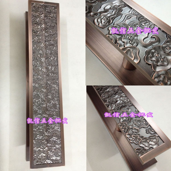 Auspicious clouds antique glass door handle carved handle Chinese modern aluminum door handles European wooden door handle bronze glass door handle modern european luxury stainless steel door handle chinese antique wooden door handles