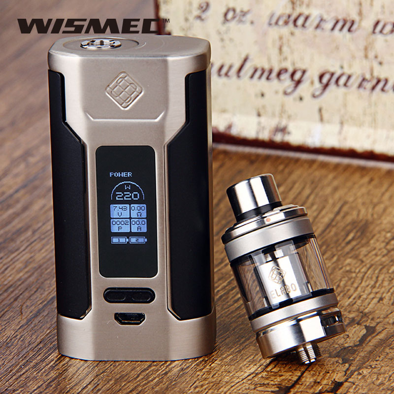 Original WISMEC Predator 228 for Elabo Vaping Kit Elabo Tank 4.9ml Atomizer 228W TC MOD E-cigarette No Battery Vs wismec rx300 original wismec elabo sw 2ml atomizer