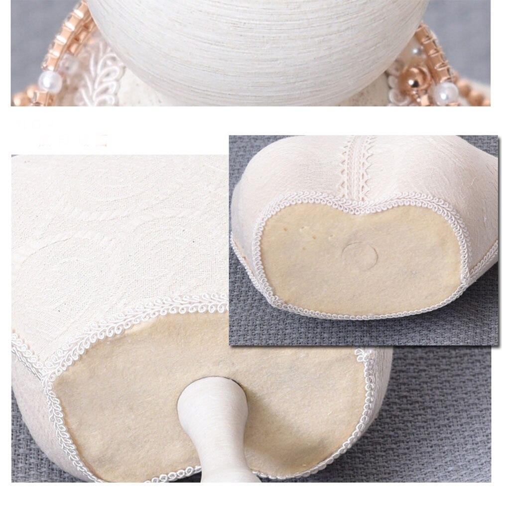 Branco de madeira laço manequim jóias rack