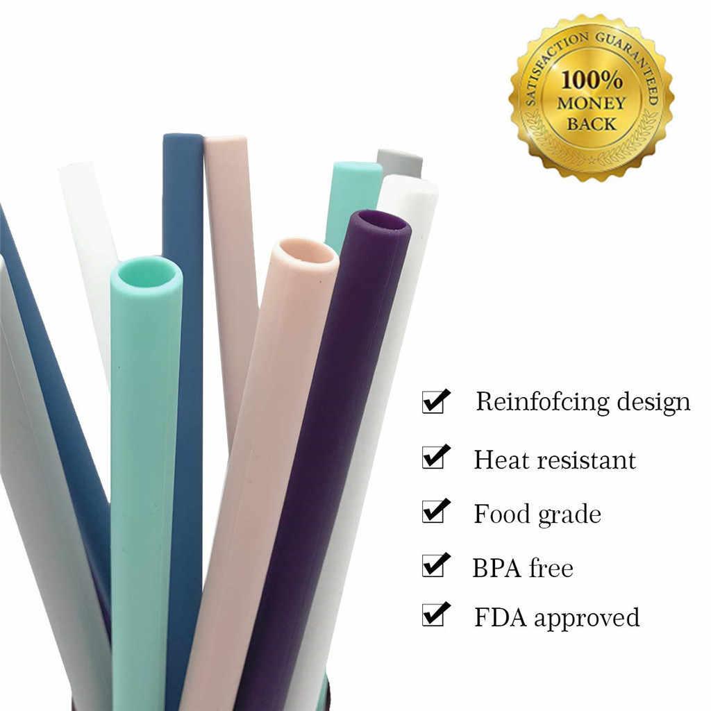 Bộ 12 Lớn Ống Hút Silicone cho 30 oz Chân Váy Thun YETI/RTIC Có Thể Tái Sử Dụng Ốp có ống hút bàn chải cọ rửa làm sạch Ống cho bình giữ nhiệt