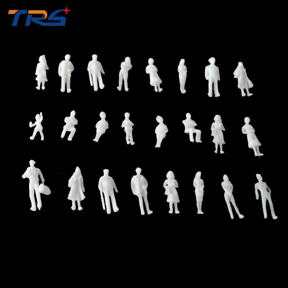Teraysun 1 100 MIXED 100pcs miniature white figures Architectural font b model b font human scale