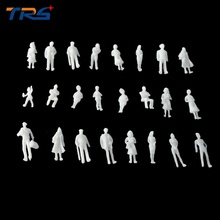 Teraysun 1:100 MIXED 100pcs miniature white figures Architectural model human scale HO ABS plastic peoples 2.0cm