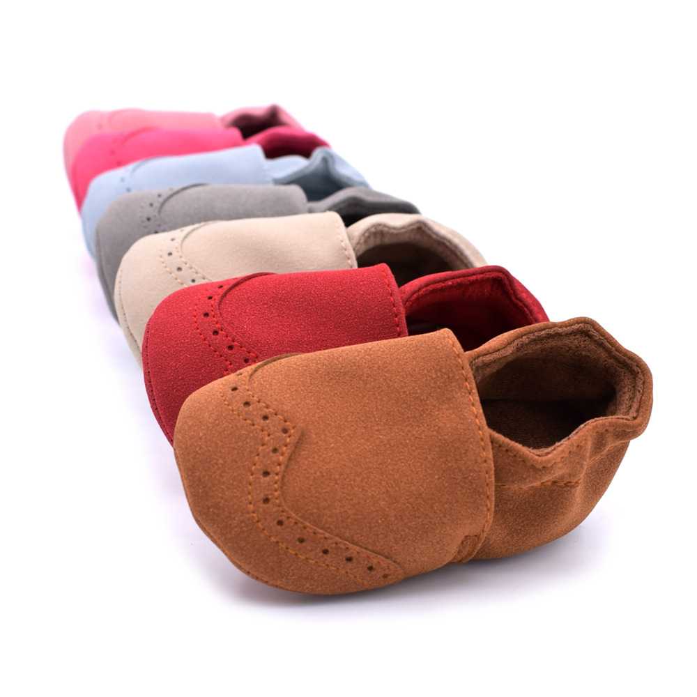 Newborn Baby Shoes Nubuck Flock Leather Baby Moccasins Soft Bottom Infant Crib Shoes Sneakers First Walkers Slippers