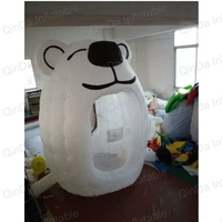 Inflatable money grab game box inflatable cash cube money machine