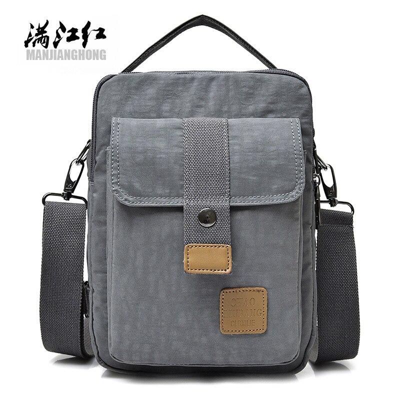 fa2e2cf0f4bd MANJIANGHONG мужские сумки-мессенджеры непромокаемые высокое качество ткань  Оксфорд сумка через плечо колледж студенческая школа