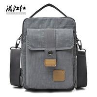 MANJIANGHONG Men Messenger Bags Waterproof High Quality Oxford Cloth Crossbody Bag College Student School Portable Shoulder