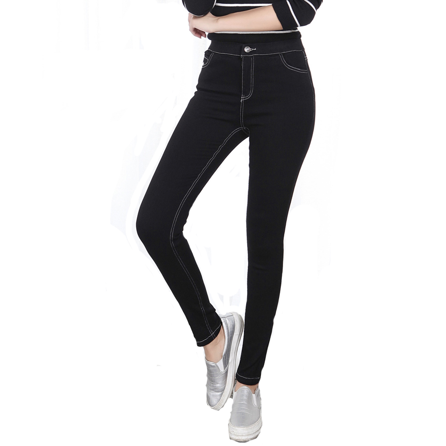 skinny jeans woman high Waist Fashion Women slim Jeans  Denim Pants black Pencil Pants Full Length Large size XL-5XL Elastic 4xl plus size high waist elastic jeans thin skinny pencil pants sexy slim hip denim pants for women euramerican
