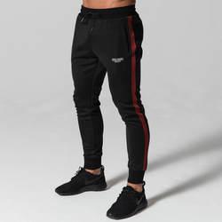 2018 осень повседневные мужские брюки для ног мужские кружевные тренировочные брюки Модные мужские черные брюки брендовые фитнес-джоггеры