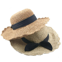 SUOGRY Mother Girl Straw Hat Summer Big Glong The Parent-Child Sunshade Baby Hand-Woven Travel Fashion Beach Sun