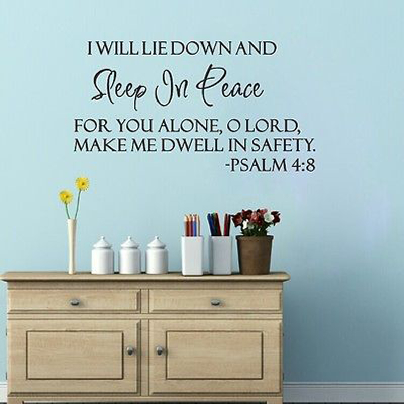 Online Get Cheap Peaceful Quote Wall Stickers Aliexpresscom - Bible verse wall decals