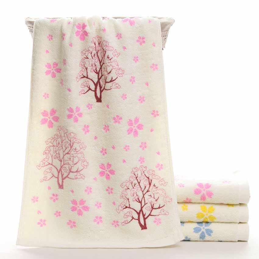 Jakości ręcznik do twarzy drzewo kwiat kąpiel drukowane Spa miękkie kuchnia bawełna ręcznie dla dorosłych gruby domów nad morzem 32*73cm Hotel serwetka