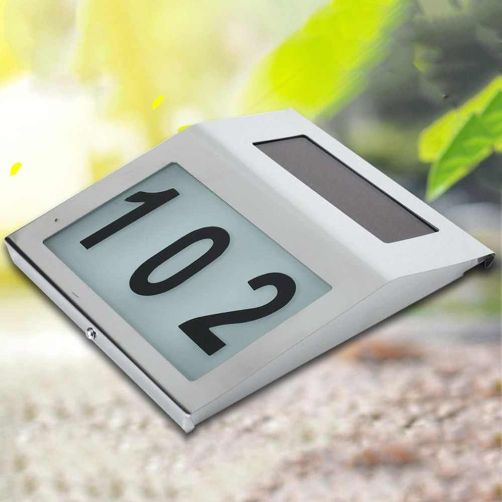 House Number Outdoor Durable Doorplate Lamp Huisnummer Hotel Door Numbers Sign LED Light Address Sign House Hotel