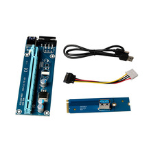 NGFF M.2 to PCI-E X16 Slot Adapter Card Mining Riser Card 1x to 16x PCI Express Riser Card PCI-E Extender 60cm USB 3.0 Cable