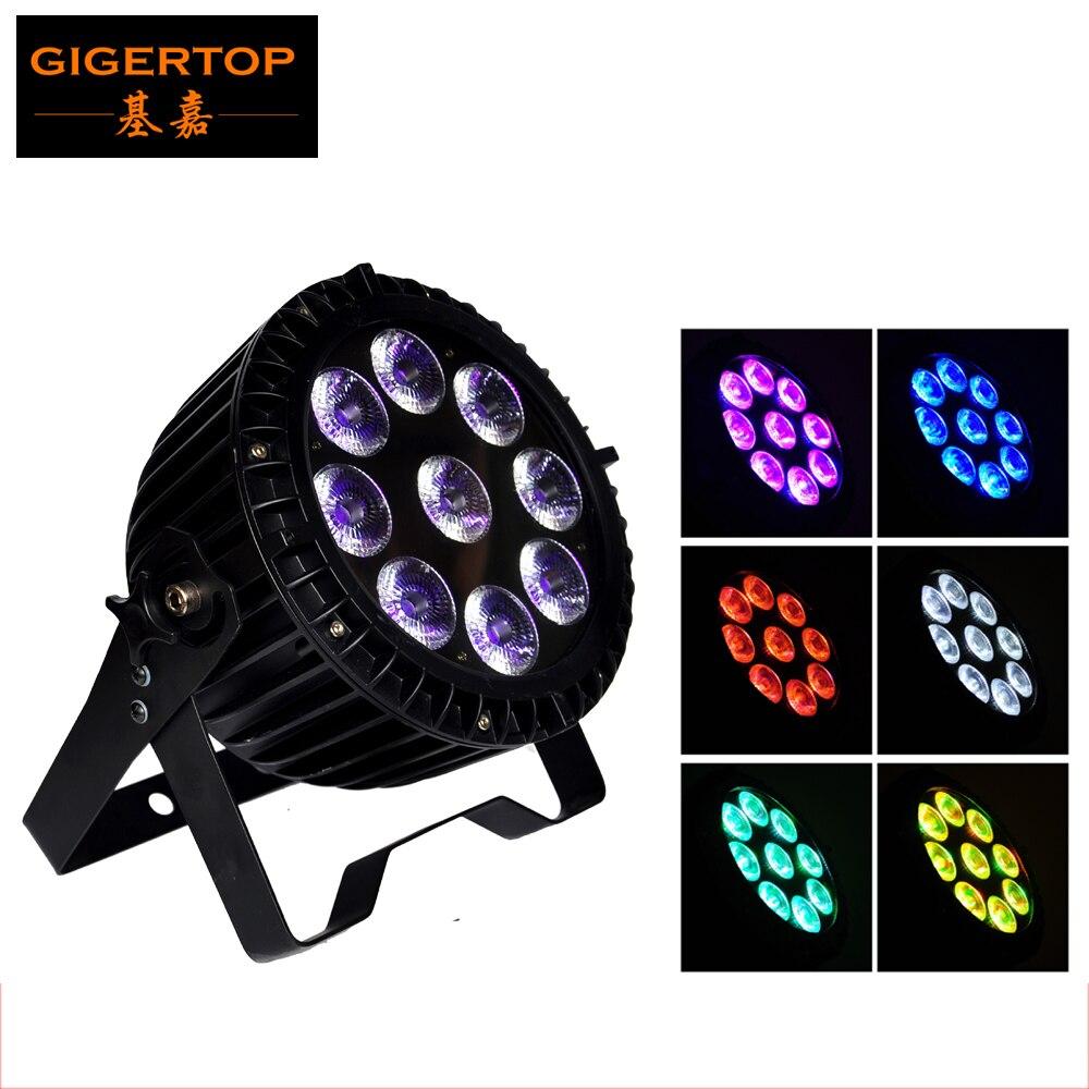 No Flicker No Noise 9x18W 6in1 RGBWA +UV Led Par64 Light Waterproof IP65 Led Par Lights Stage Light 90V 240V 6/10 DMX Channel