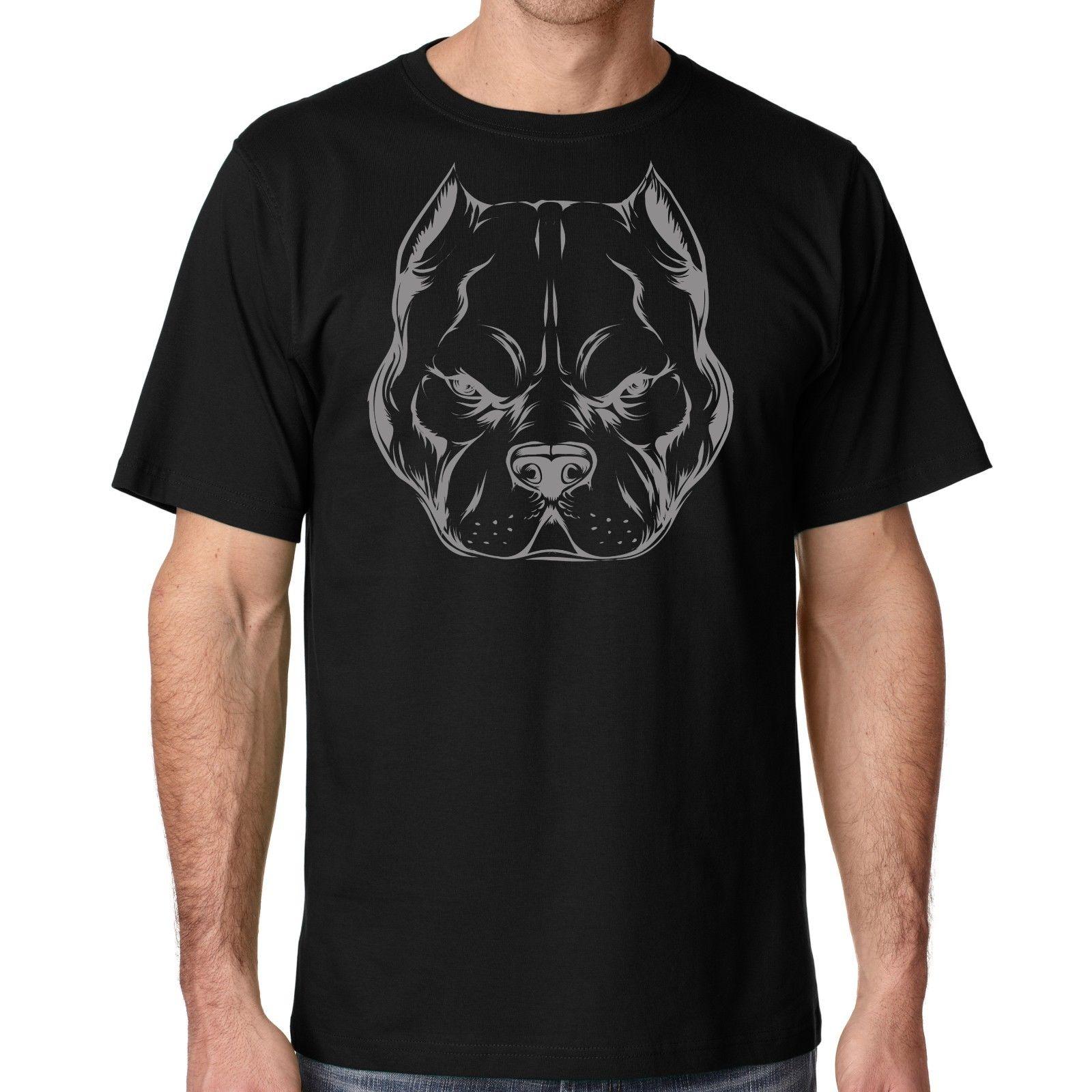 Жесткий руководитель питбуль футболка американский хулигана Supply Co Для мужчин футболка от SM через 5x дешевая распродажа 100% хлопковая футболк...