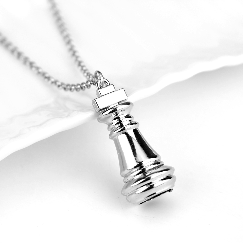 No Game No Life Chess Necklace Silvery Pendant Fashion For Men Women necklace Jewelry Accessories Can Drop-shipping