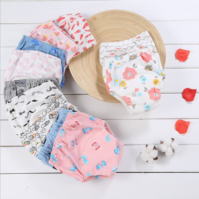 6 Layers Of Thickened Cotton Reusable Waterproof Pants Baby Diapers Childlike Innocence Training Childlike Underwear