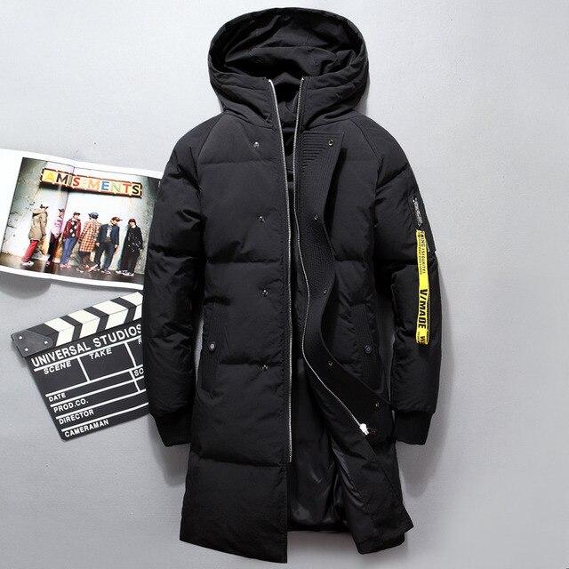 VSD модная новинка зимы Куртка человека теплый Пуховик парка долго утолщение пальто Для мужчин для Зима Водолазка ветрозащитный в сдержанном стиле VS8902