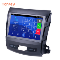 Harfey Android 7.1/8.1 9 Inch Car GPS Radio Player For 2006 2014 MITSUBISHI Outlander Multimedia Player Touchscreen Stereo